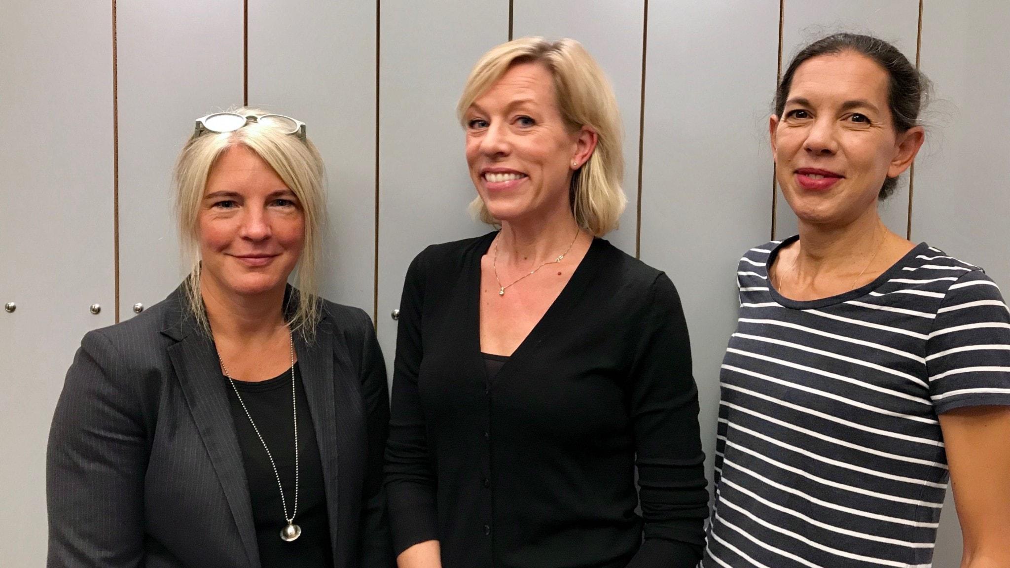 Sara Stenholm Pihl, Ginna Lindberg och Sanna Torén Björling.
