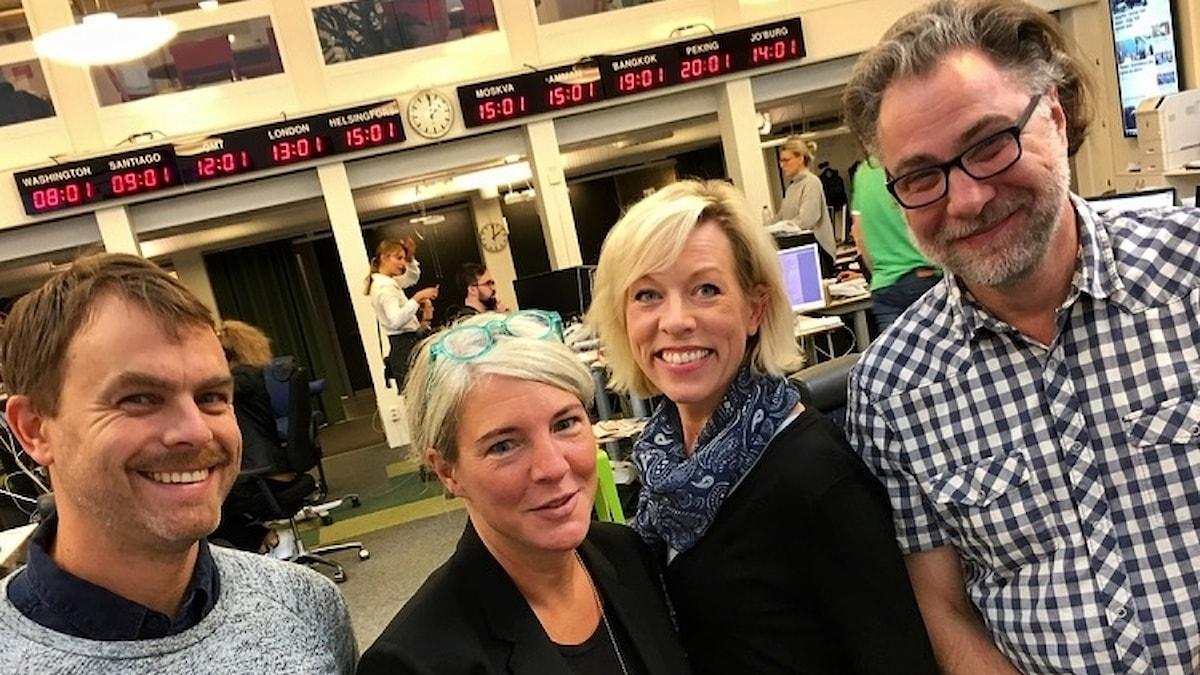 Ivar Ekman, Sara Stenholm-Pihl, Ginna Lindberg och Anders Ask