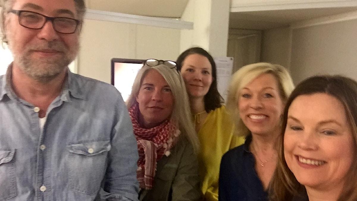 Helena Lindblad, filmkritiker Dagens Nyheter, Anders Ask, utrikesredaktör på Ekot och Ginna Lindberg, utrikeschef på Ekot.