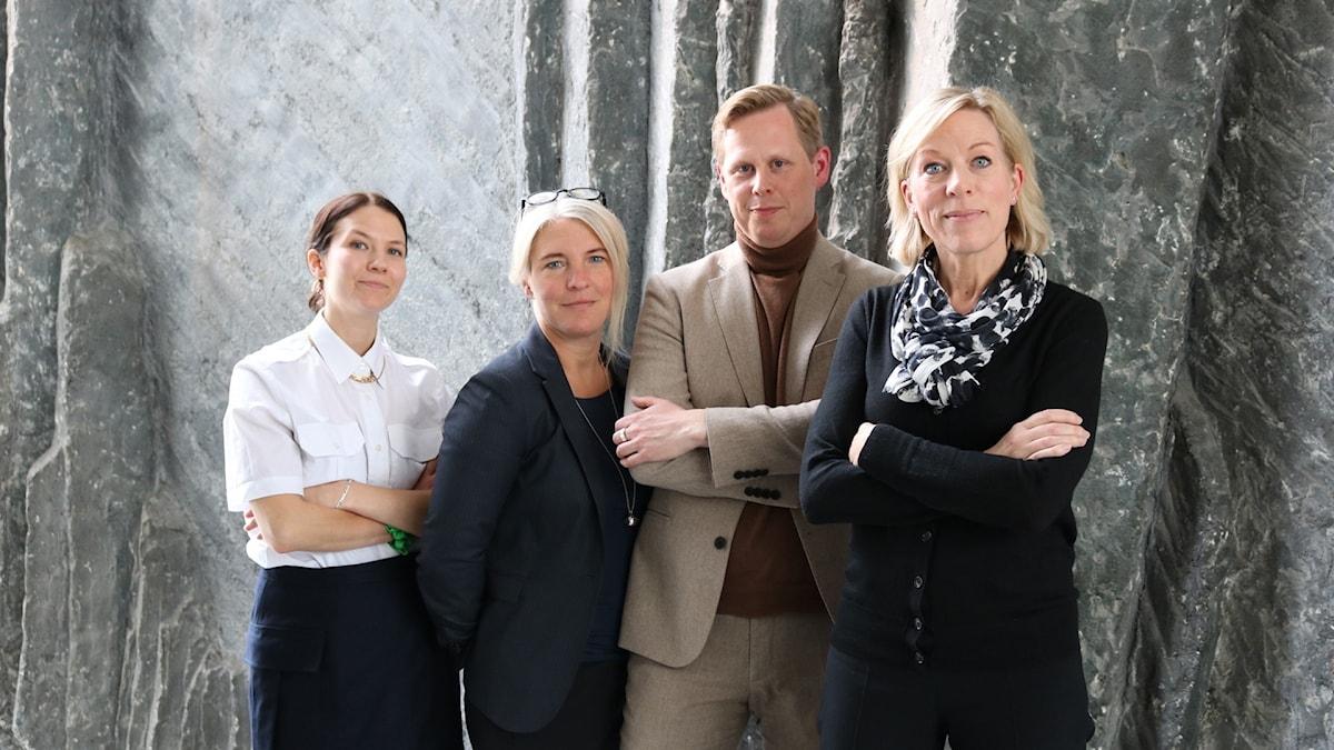 Cecilia Khavar, Sara Stenholm-Pihl, Andreas Utterström och Ginna Lindberg.