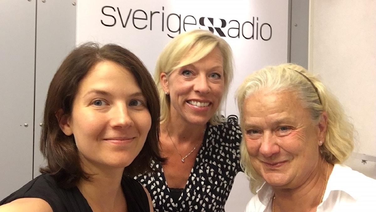 Cecilia Khavar, Ginna Lindberg och Karin Henriksson.
