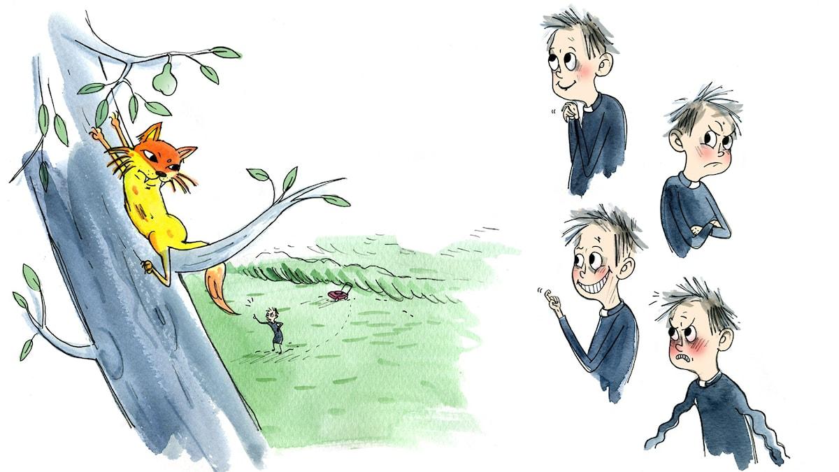 Mördarkattens återkomst. Illustrationer: Emma Göthner.