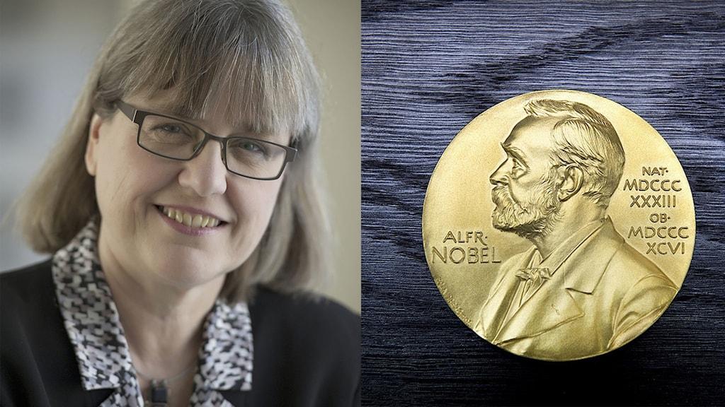 Donna Strickland, som är en av de tre som i dag fick Nobelpriset i fysik.
