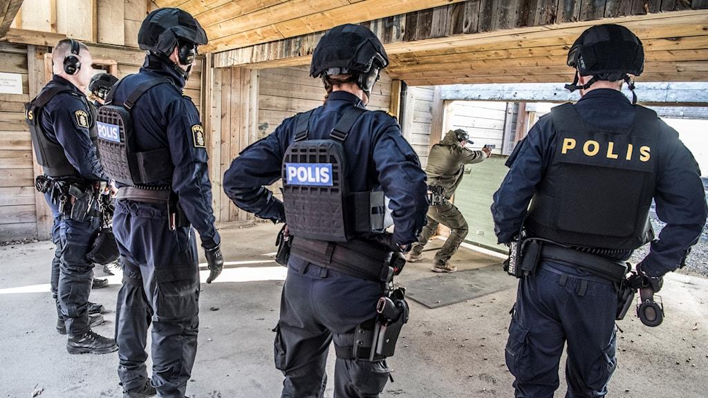 Studenter på polisutbildning.