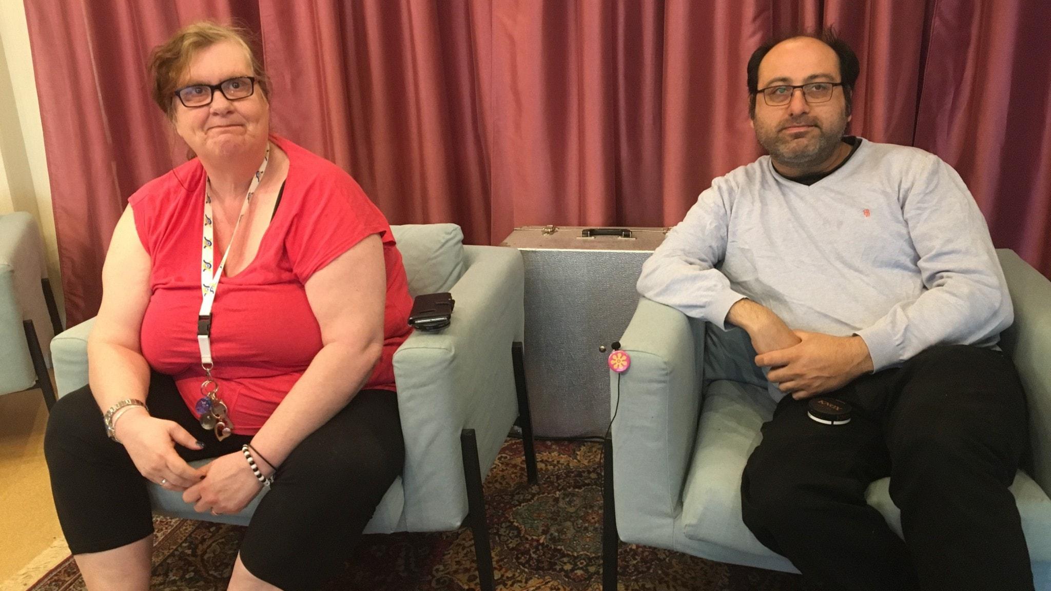 Gunilla Ericsson och Ali Reza Rafigh.
