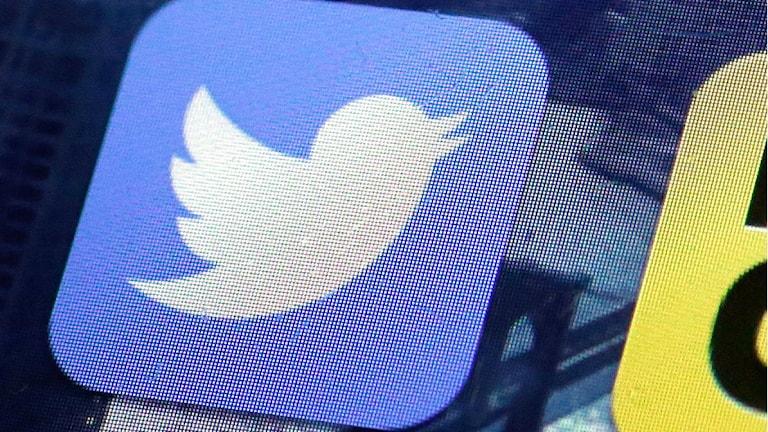 Så här ser Twitters symbol ut. Foto: AP