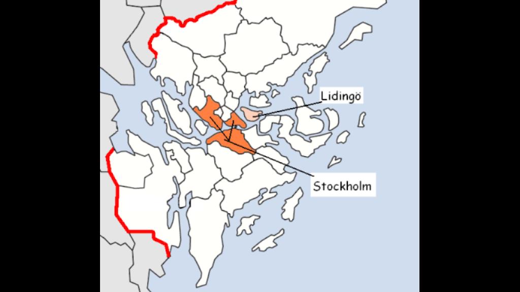 Lidingö ligger öster om Stockholm.