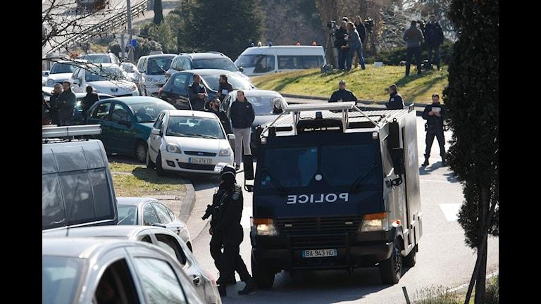 Poliser i Marseille i södra Frankrike.