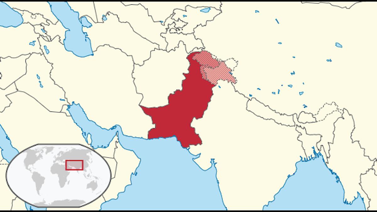 Pakistan är granne med länderna Indien, Iran och Afghanistan.