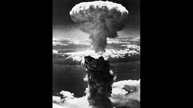 Så här såg det ut när atombomen exploderade.