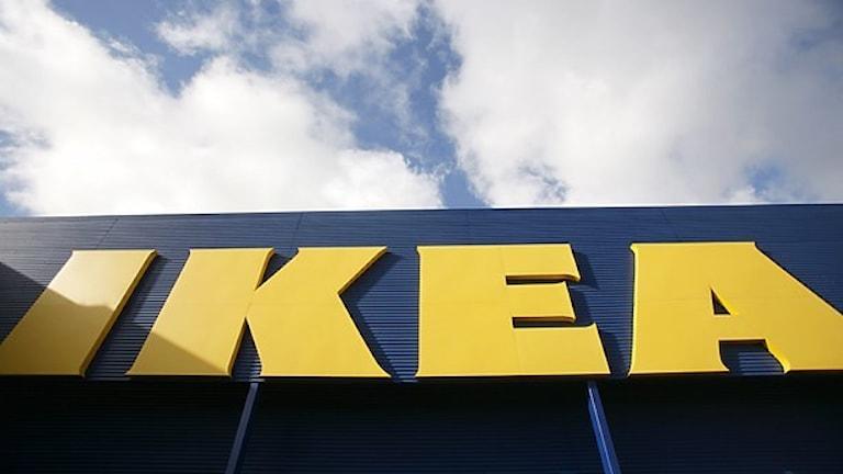 IKEA sign.