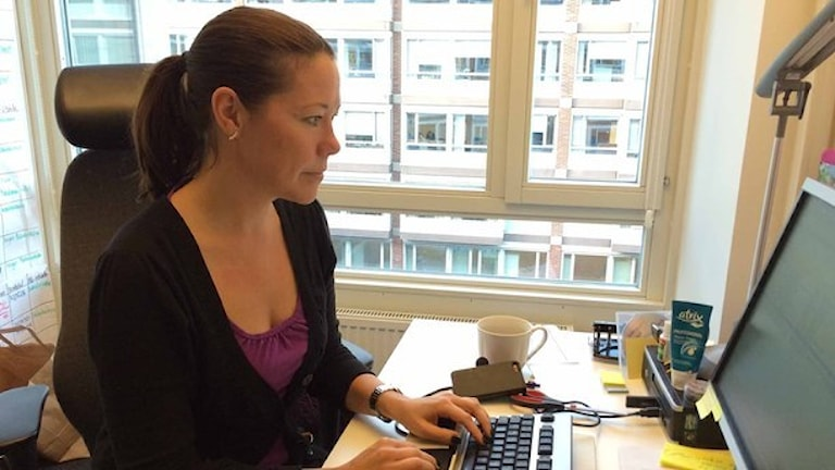 Ulrika Hammarin, utredare Citypolisen. Foto: Karin Wettre/Sveriges Radio.