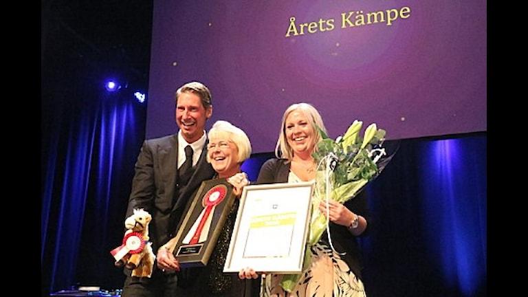 priisutdelning Årets Kämpe på Ryttargalan 2015