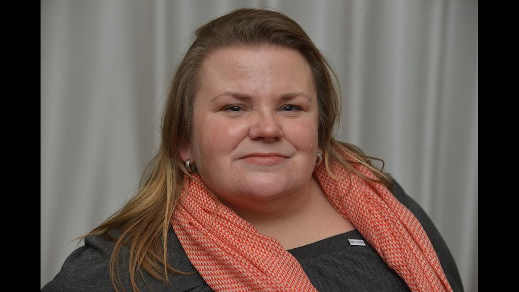 Bilden visar Maria Johansson som är ordförande Lika Unika