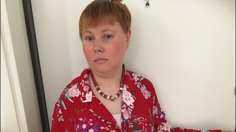 Emely Muthén på Föreningen Grunden i Göteborg.