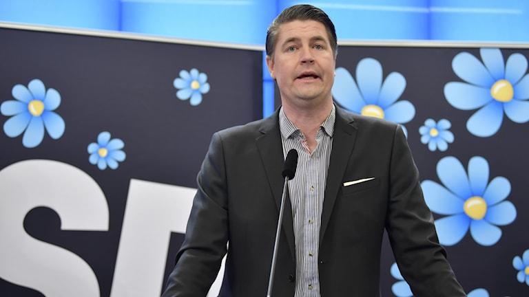 Sverigedemokraternas ekonomisk-politiske talesperson Oscar Sjöstedt