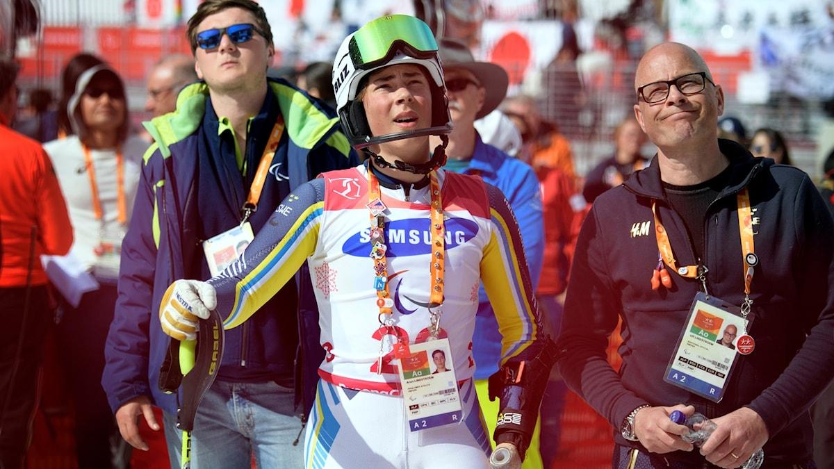 Bild på idrottare vid årets vinter-Paralympics i Sydkorea.