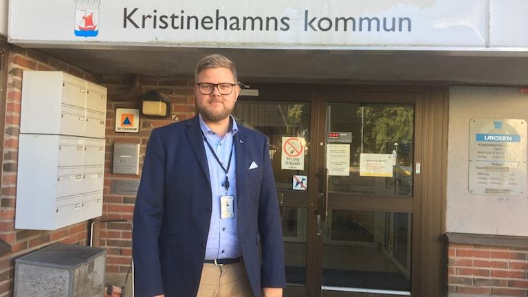 Eric Hesselius. Foto: Jonas Berglund/Sveriges Radio.