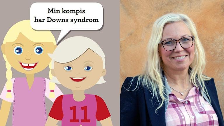Bild av bokens framsida och foto på Veronica Magnusson Hallberg.