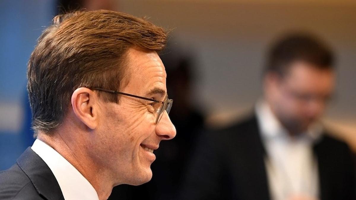 Fotot visar Ulf Kristersson, partiledare för Moderaterna.