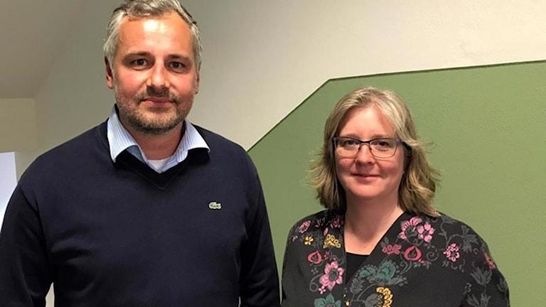 På bilden ser vi Zlatko Jankovic, elevhälsochef i Norrköping, och Camilla Nisberth på Riksförbundet Attention.
