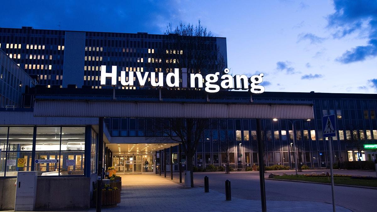 Entrén till Danderyds sjukhus. Foto Henrik Montgomery / TT / Kod 10060