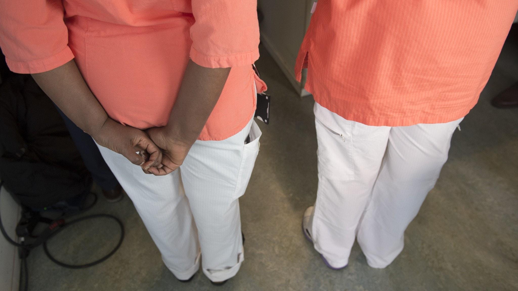 Vårdpersonal inom äldreomsorgen