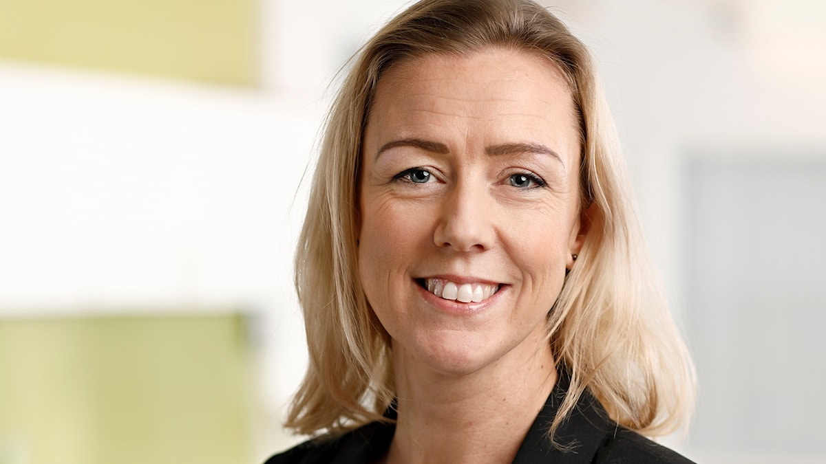På bilden ser man Anna-Karin Quetel som är expert på mat och som jobbar på Livsmedelsverket.