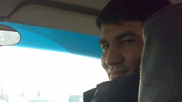På fotot syns den misstänkte Rakhmat Akilov.