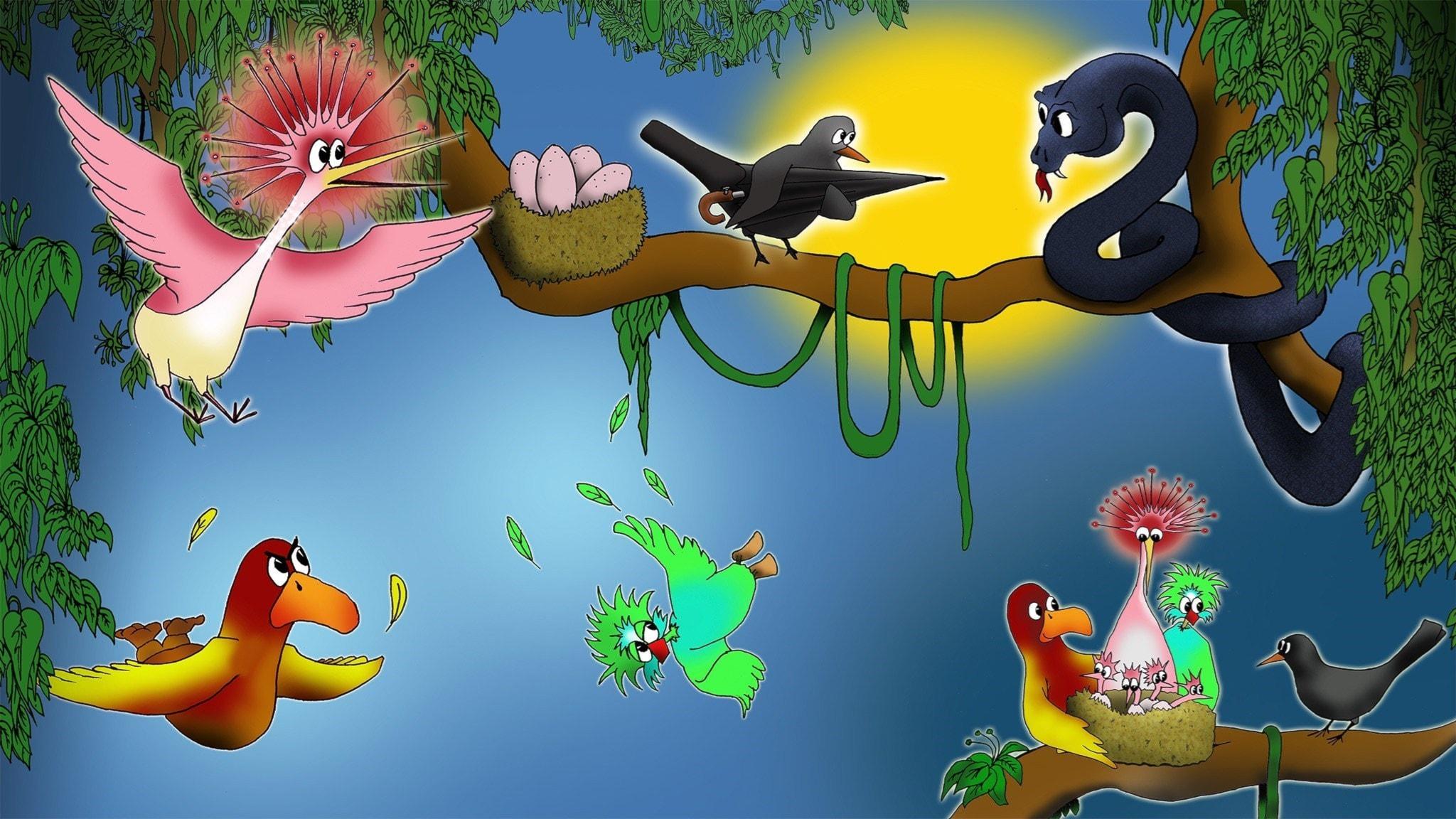 Svarta lilla koltrast del 5. Illustration: Homero Alvarez.