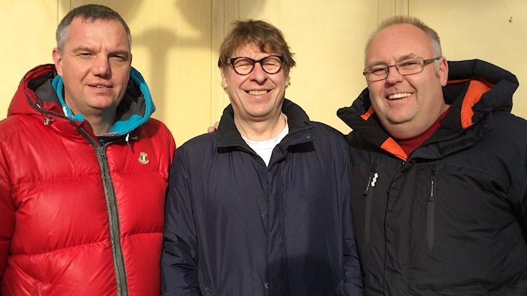 Jonas Enarsson, Roger Burman och Lasse Persson