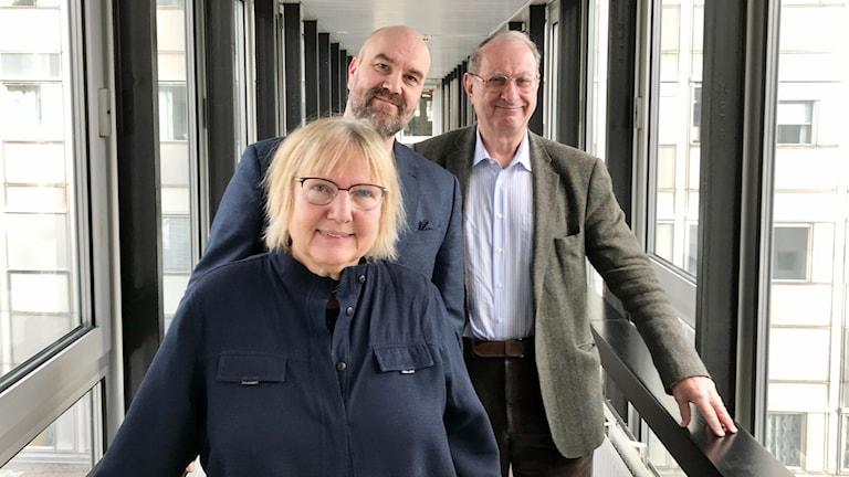 Susanne Palme, Claes Aronsson och Daniel Tarschys.