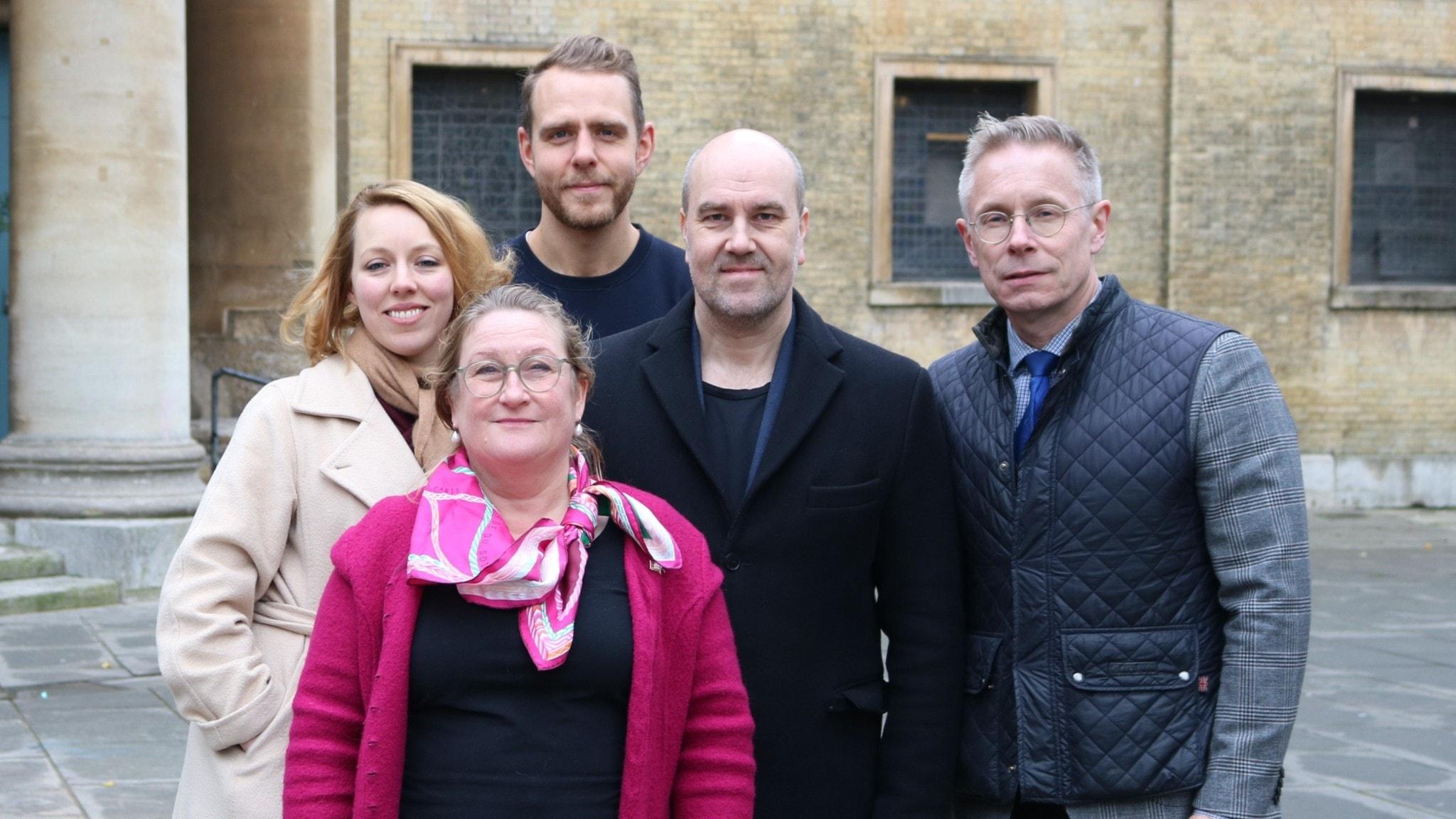 Katrine Marcal, Helen Rennie-Smith, Björn Barr, Claes Aronsson och Daniel Alling.