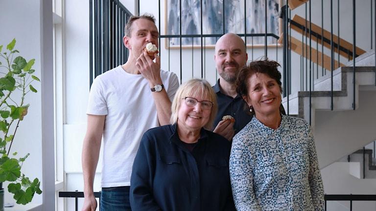 Björn Barr, Susanne Palme, Claes Aronsson och Alice Petrén.