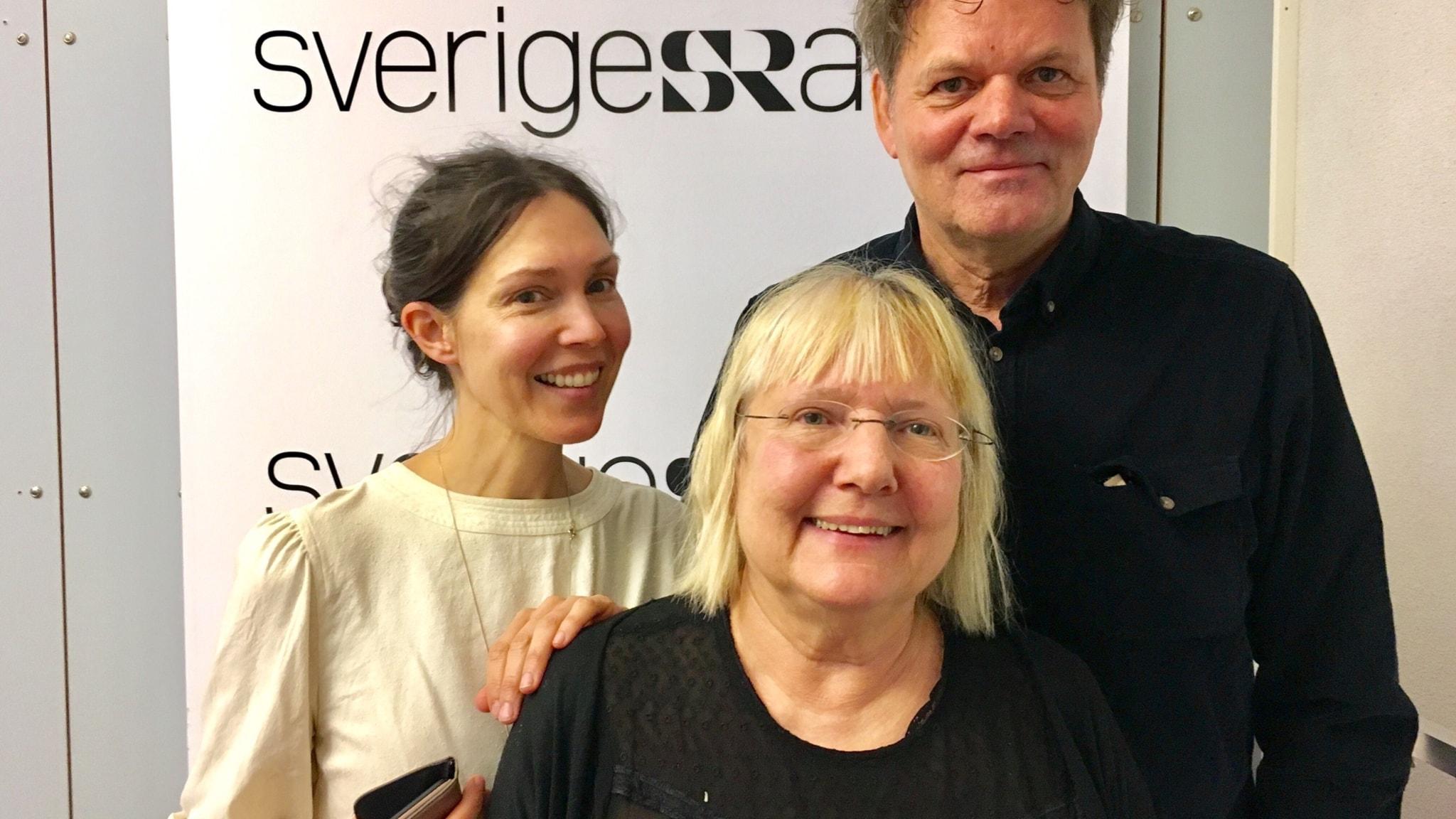 Caroline Salzinger, Susanne Palme och Thomas Gustafsson.