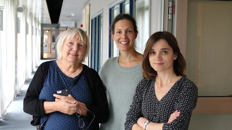 Susanne Palme, Caroline Salzinger och Johanna Melén.