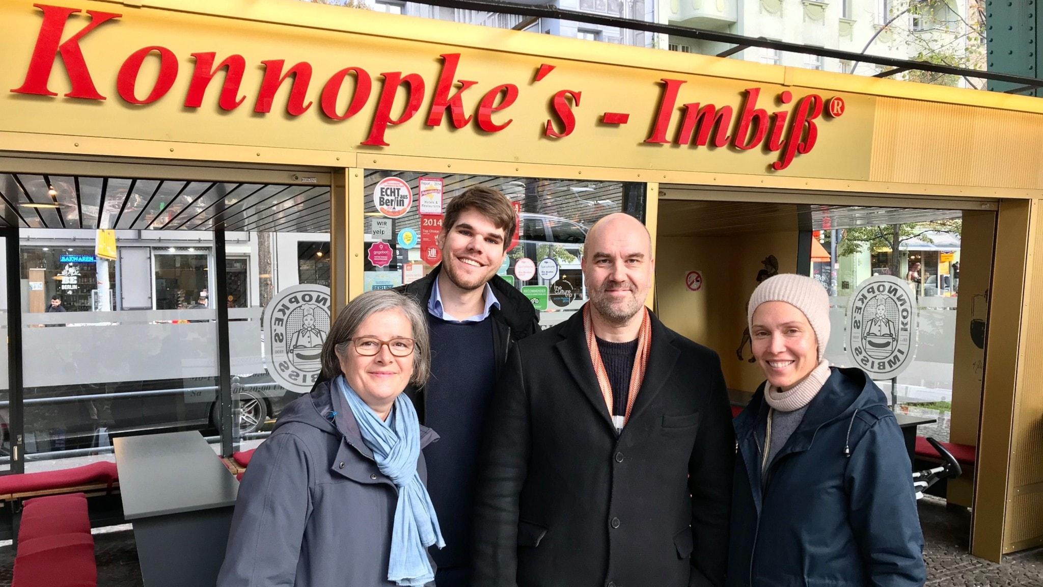 Daniela Marquardt, Alexander Finger, Claes Aronsson och Caroline Salzinger.