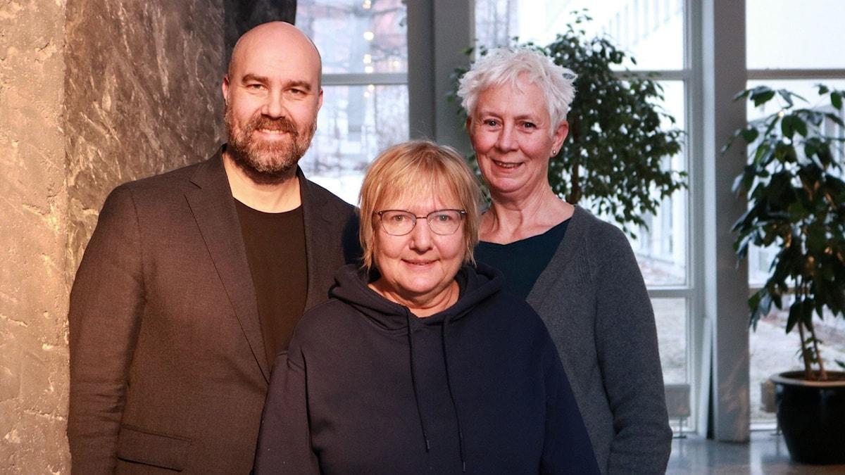 Claes Aronsson, Susanne Palme och Annika Digréus.