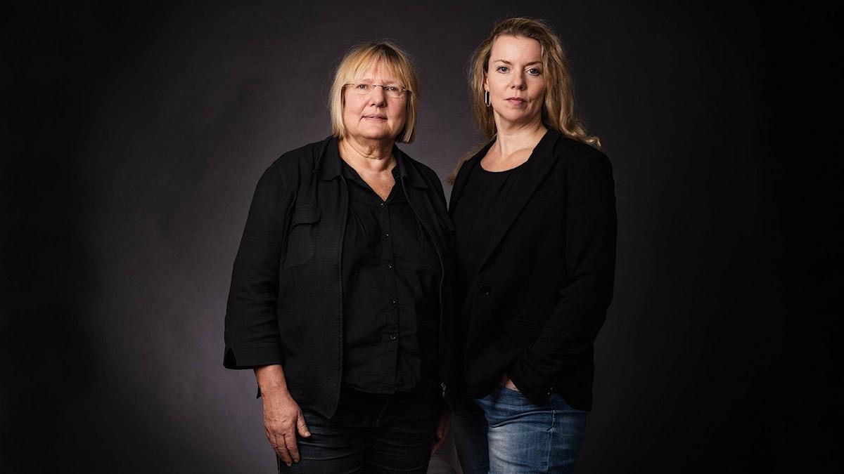 Susanne Palme och Ci Holmgren. Foto: Mattias Ahlm/Sveriges Radio