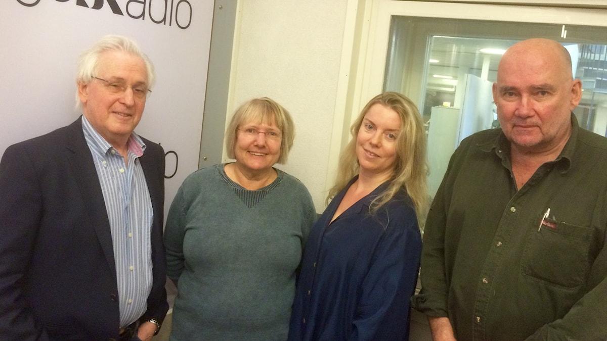 Herman Melzer, Susanne Palme, Ci Holmgren och Staffan Sonning.