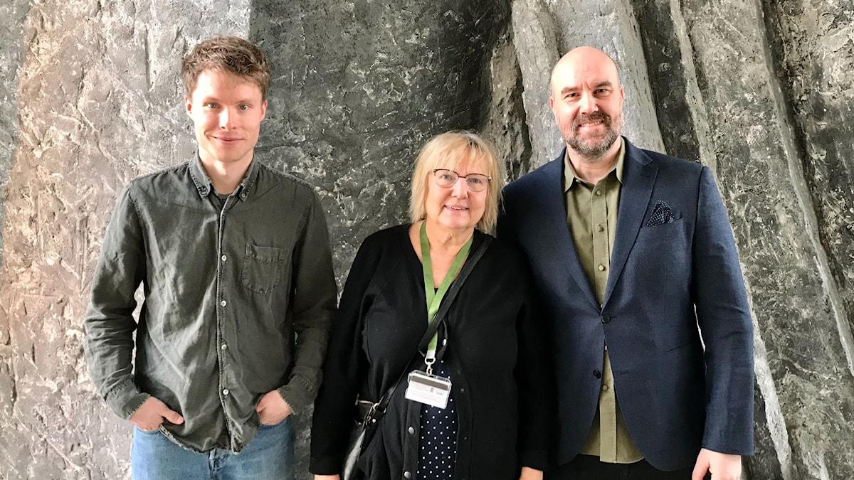 Pontus Ahlkvist, Susanne Palme och Claes Aronsson.