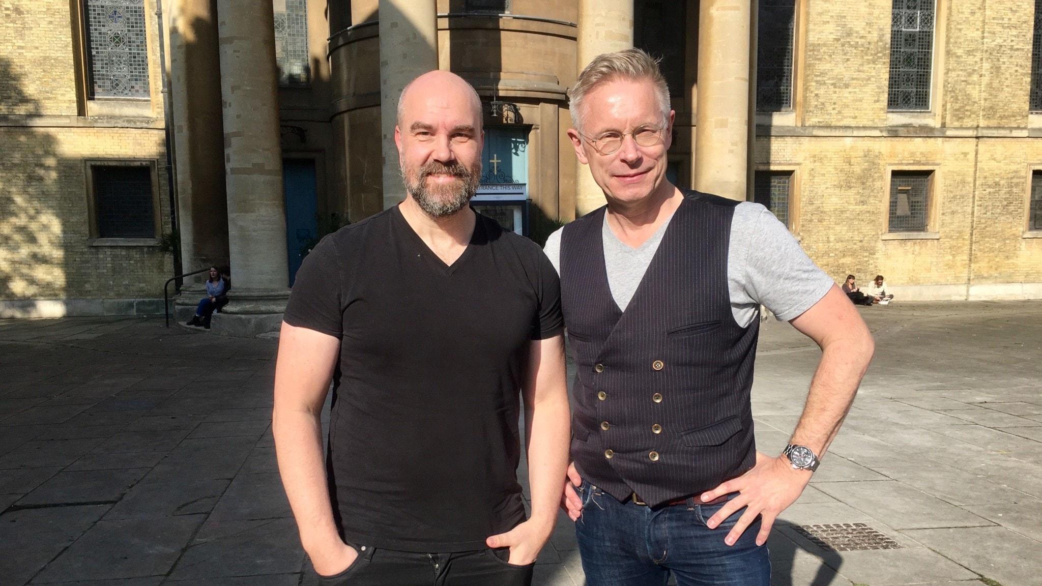 Claes Aronsson och Daniel Alling i London.