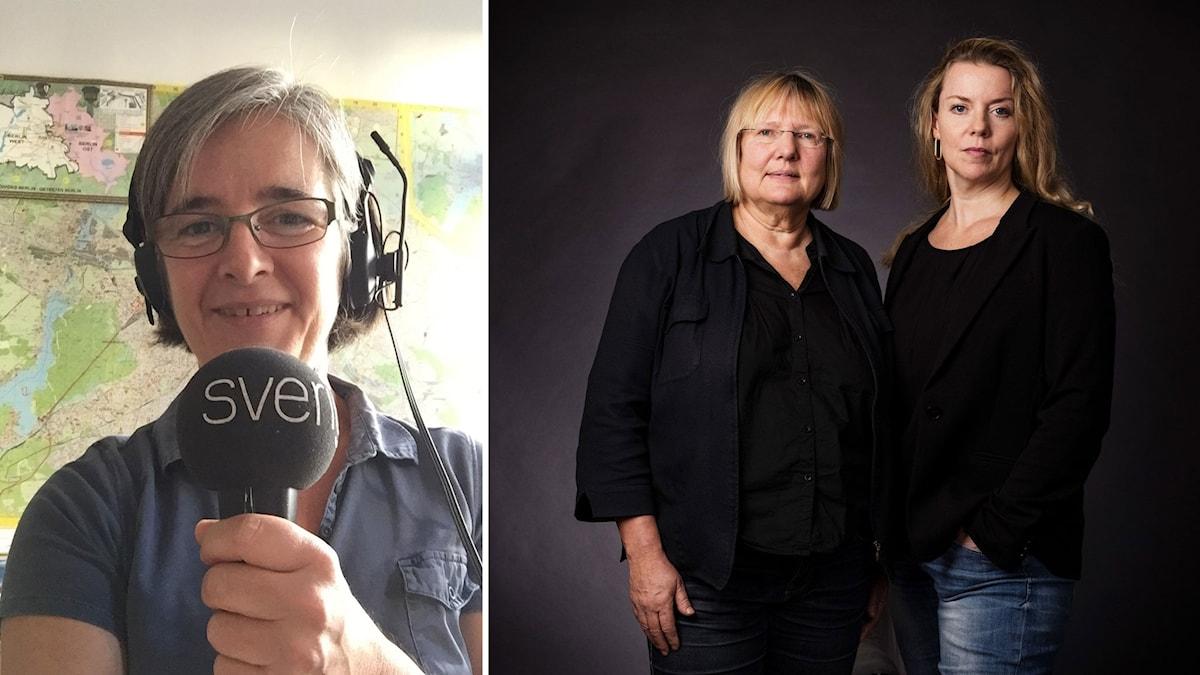 Berlinkorrespondenten Daniela Marquardt, EU-reporter Susanne Palme och Ci Holmgren