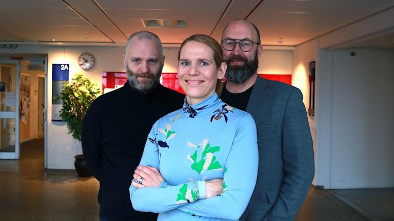 David Rasmusson, Erika Gabrielsson och Jens Möller.