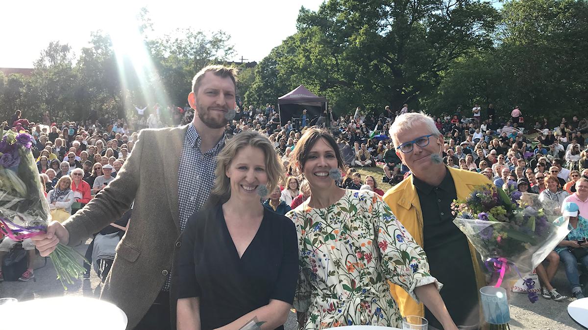 Ivar Arpi, Sigrid Melchoir, Caroline Salzinger och Per Wirtén.