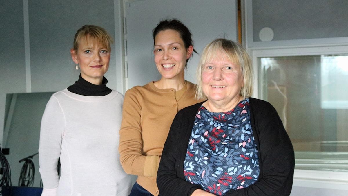 Kinakännaren Kristina Sandklef, Caroline Salzinger och Susanne Palme.