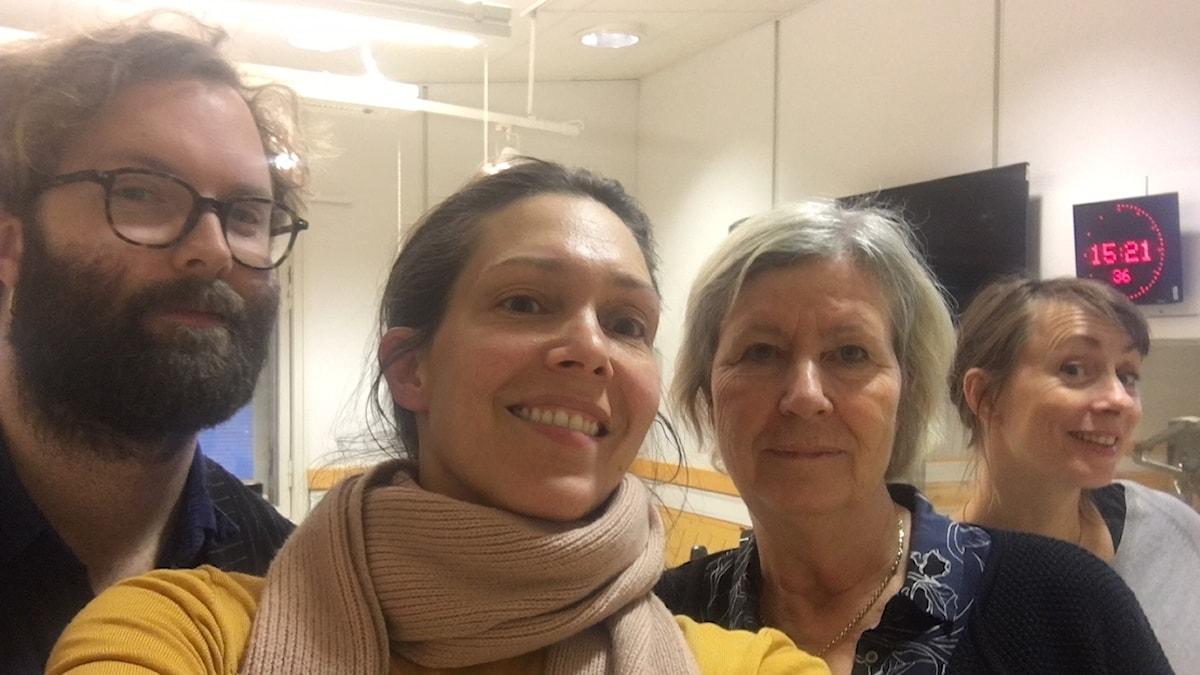 Robin Olin, Caroline Salzinger, Ageta Ramberg och Lisa Bergström