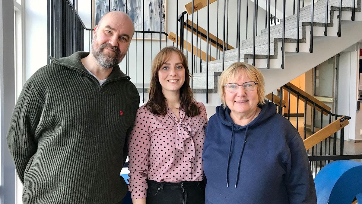 Claes Aronsson, Stephanie Zakrisson och Susanne Palme.