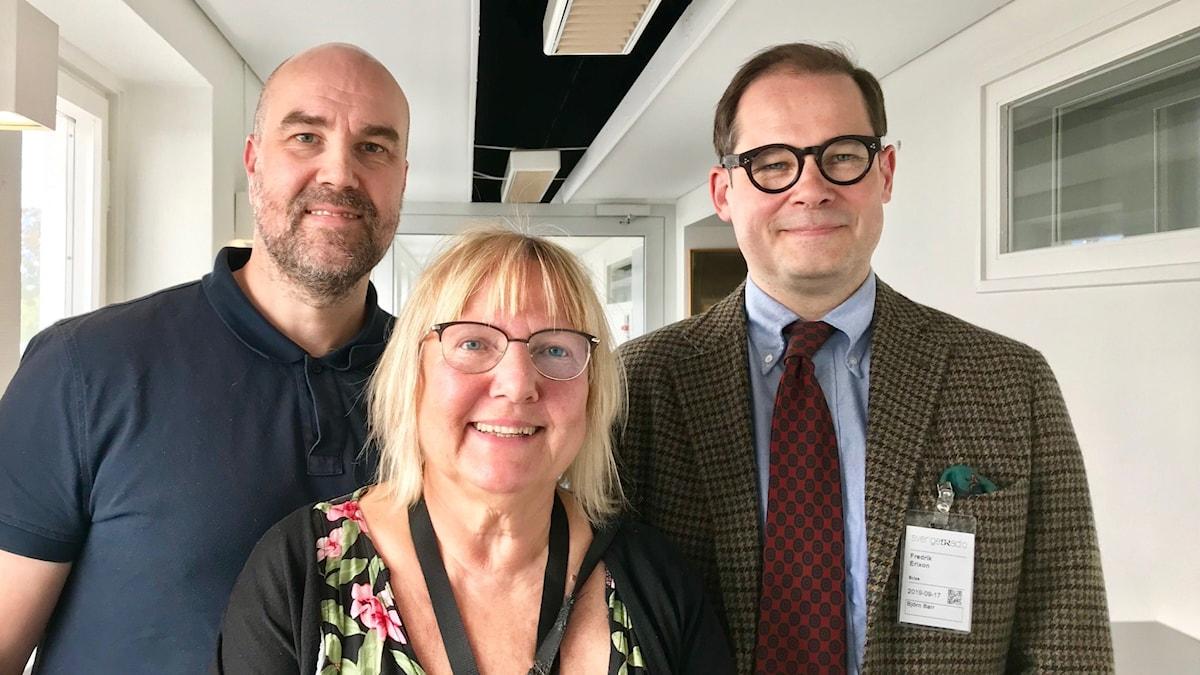 Claes Aronsson, Susanne Palme och Fredrik Erixon.