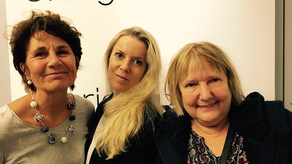 Alice Petrén, Ci Holmgren och Susanne Palme